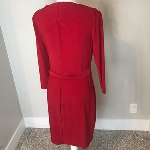 Chaps Dresses - CHAPS Red Wrap Dress NWT